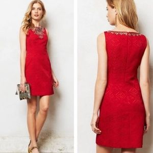 Anthropologie Moulinette Soeurs Toulouse Red Dress